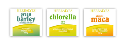 Herbalyes Series labels on products 2